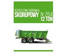 Rozrzutnik obornika N-255/6  12 ton Igamet