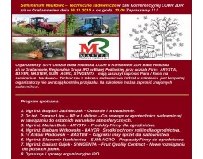 Seminarium Naukowo – Techniczne sadownicze w Sali Konferencyjnej LODR ZDR z/s w Grabanowie 26.11.2015 r.