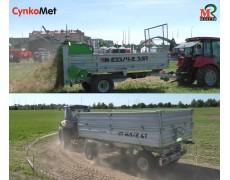 Rozrzutniki i przyczepy CYNKOMET ciągniki MTZ BELARUS i LANDINI pokazy pracy MASTER 28 MAJ 2017